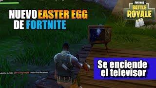 Nuevo Easter egg de Fortnite - Se enciende el televisor | Curiosidades y secretos