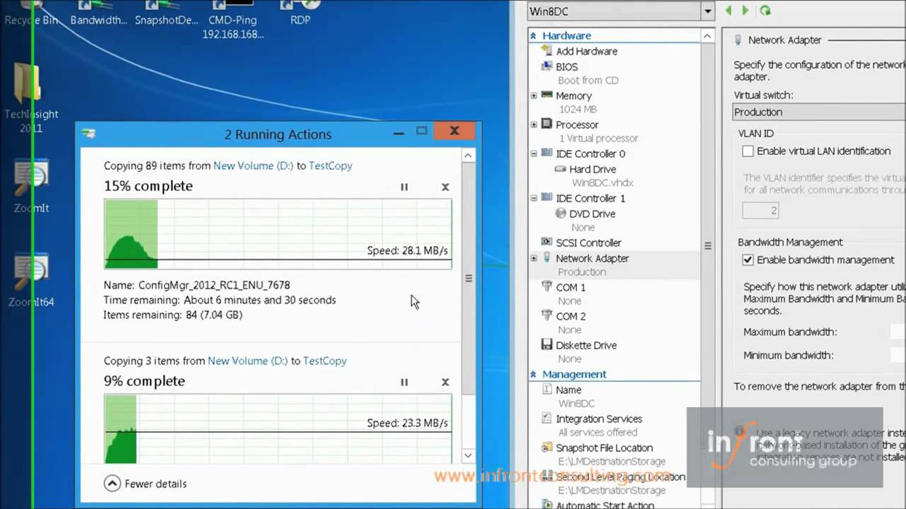 Controlling network Bandwith for VMs in Windows Server 2012