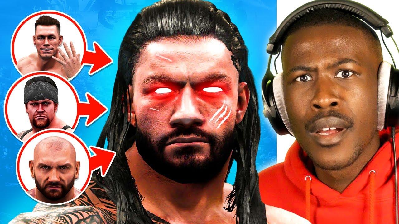Download WWE 2K19 - 100 OVR Roman Reigns vs 3 LEGENDS! (Who Wins?)