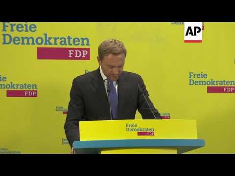 Free Democrats leader defends torpedoing coalition talks