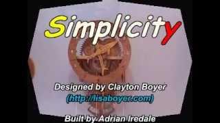 Simplicity - A Wooden Mechanism Clock