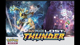 Opening Lost Thunder pokemon elite trainer box secret rare pull (code cards)