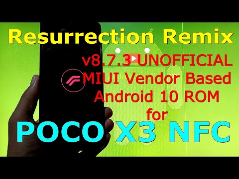 Resurrection Remix v8.7.3 UNOFFICIAL for Poco X3 NFC (Surya) Android 10