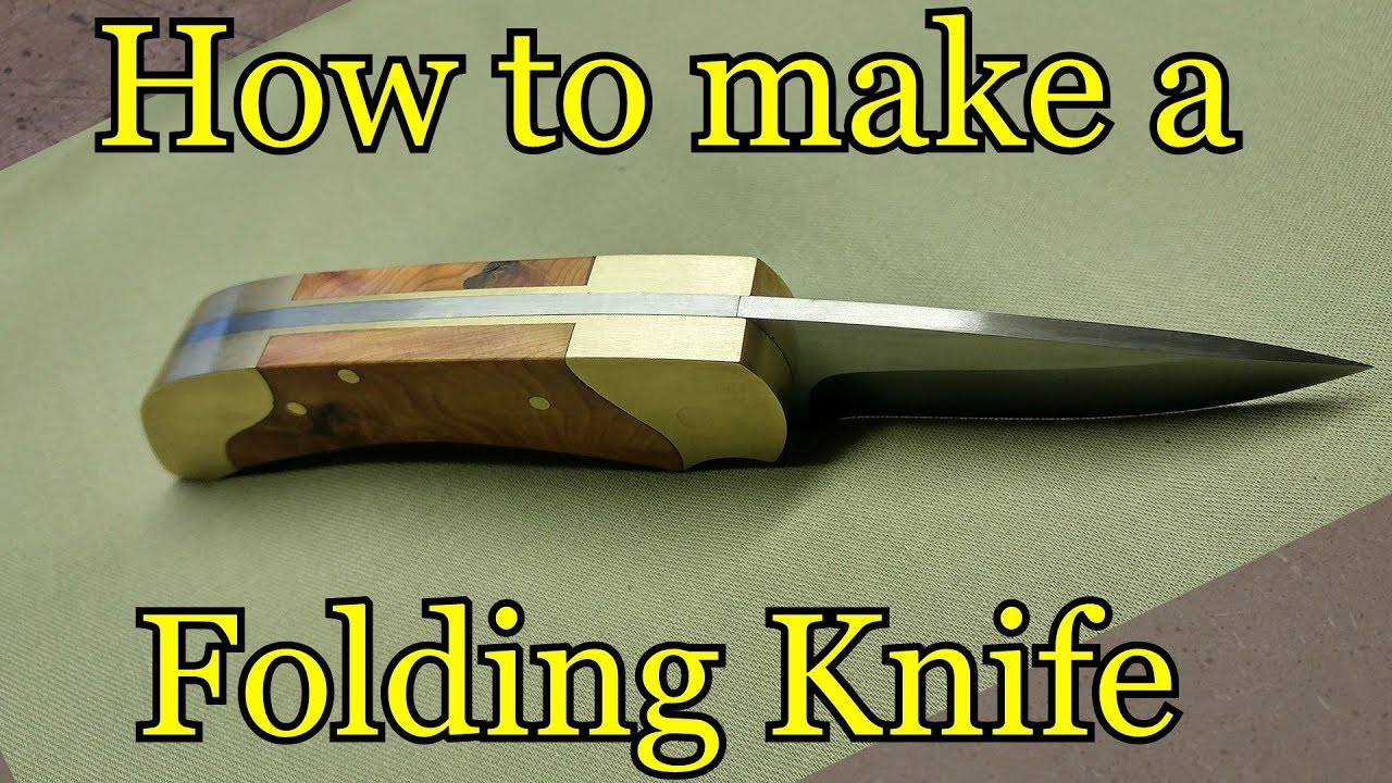 How To Make A Folding Knife Template Youtube