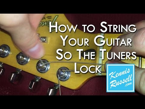 How to Lock Your Tuners! (No Slip... Better Tune)