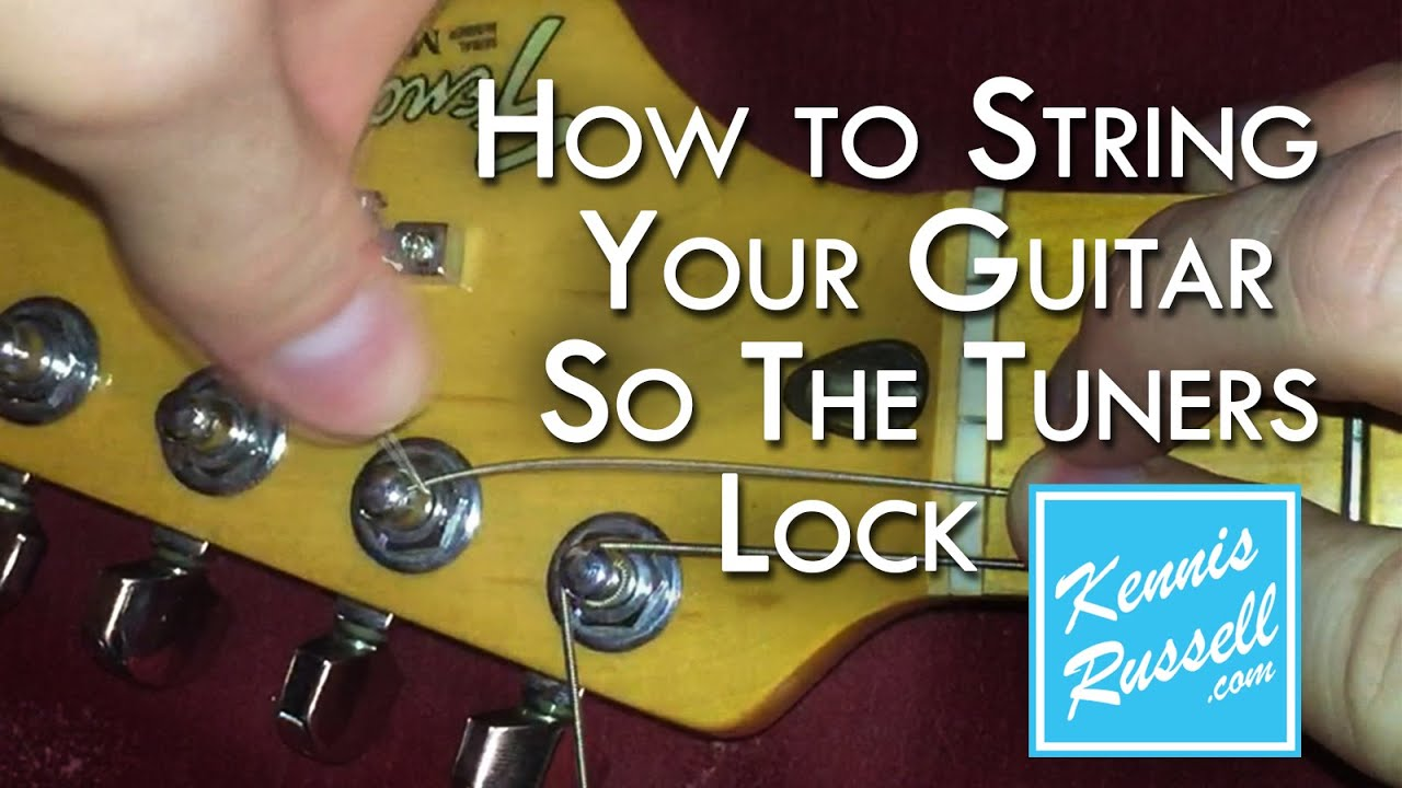 How To Lock Your Tuners No Slip Better Tune Youtube Electric Guitar Parts Diagram String Finger Numbering And Etc