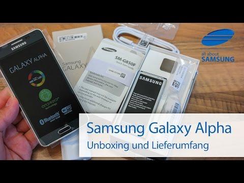 Samsung Galaxy Alpha Unboxing und Lieferumfang deutsch HD