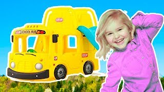 Emma Pretend Play The Wheels On The Bus Nursery Rhymes  🚌 Sweet Emily