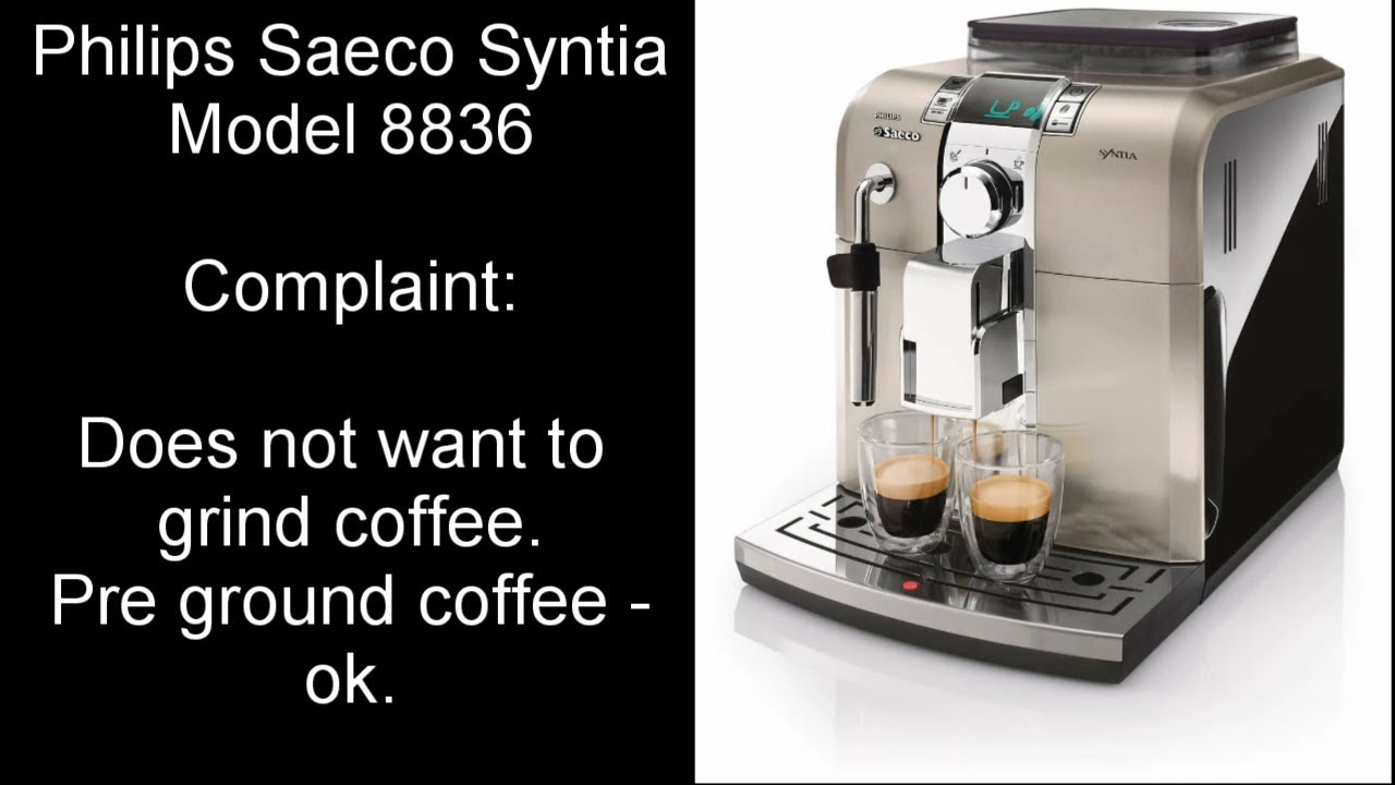 Philip Saeco Philips Saeco Syntia Coffee Machine Grinder Not Working Fault Finding And Repair