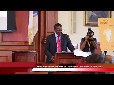 HON.DAVID MARAGA,C.J KENYA keynote Harvard Law School #ADC 2018: