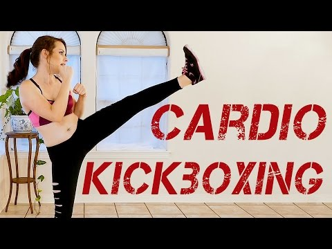 Kickboxing Cardio Workout! Beginners Fat Burning Home Fitness, Full Body Learn to Kickbox Part 4