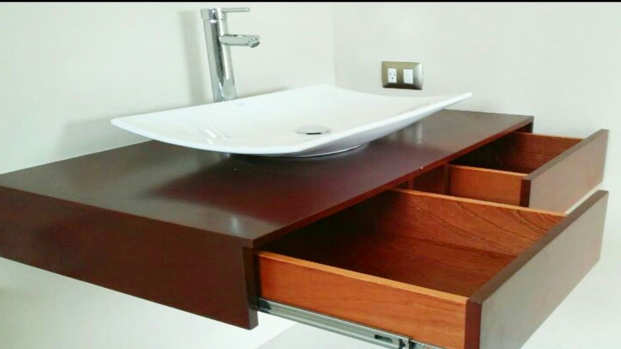 Muebles flotantes para lavabos modernos youtube for Muebles de lavabo