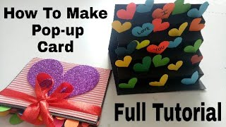 How To Make Pop Up Card for scrapbook || pop up greeting card.