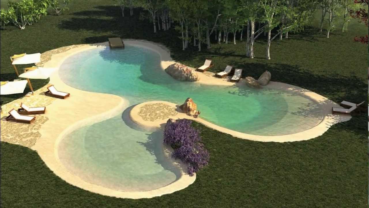 Render biodesignpools pool garden service srl youtube for Garden pool maintenance