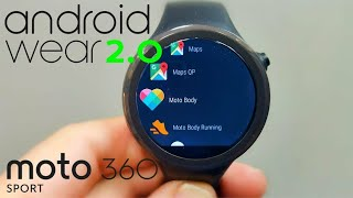 Moto 360 Sport with Android Wear 2.0