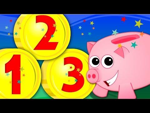 piggy bank   learn numbers   numbers song   123 song   nursery rhymes