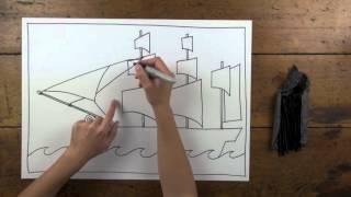 FREE! First Fleet Ship Artwork step-by-step