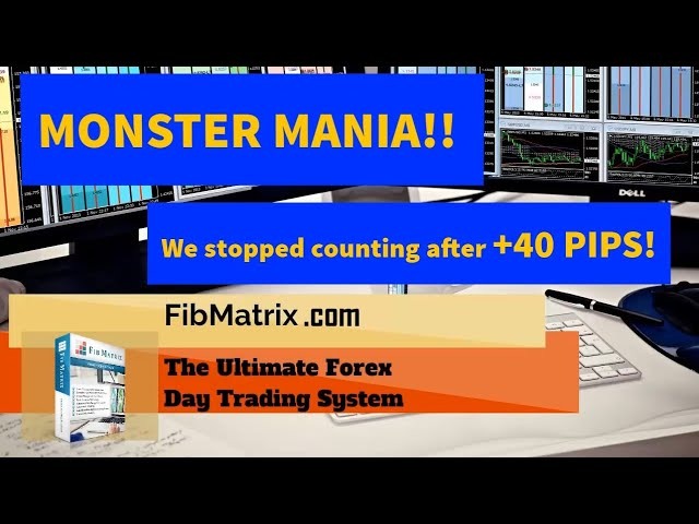Monster Mania! +40 Pips! FibMatrix VTA Fully Automated Forex Trading Software Performance Results