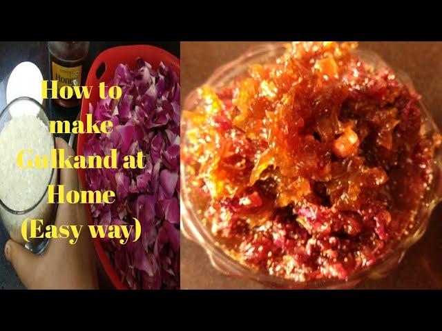 Homemade Instant Gulkand| ?????? ????? ?? ???? ?? ????| Candied Rose Petals| Rose Petals jam