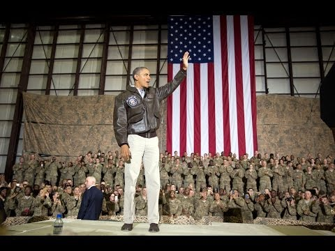 President Obama Pays a Surprise Visit to Troops in Afghanist