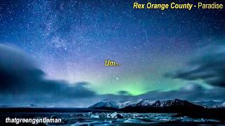 Gambar cover Rex Orange County - Paradise (lyrics)