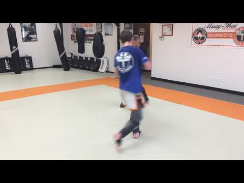TJ Dillashaw putting in work during live drilling at Ludwig Martial Arts