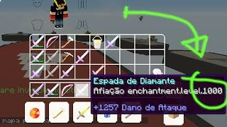 ✔ DEI ESPADA COM AFIAÇÃO 1000 PROS INSCRITOS! Trollando no SkyWars
