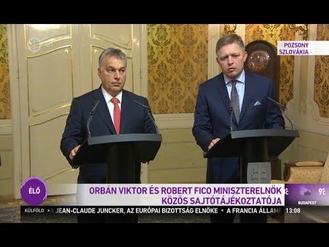 Orbán Viktor és Robert Fico sajtótájékoztatója, Pozsony, 216.10.07.
