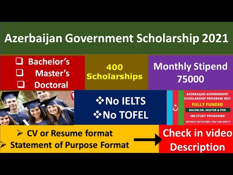 Azerbaijan Government Scholarship 2021 | Fully Funded | Monthly Stipend | BS, MS & Ph.D.