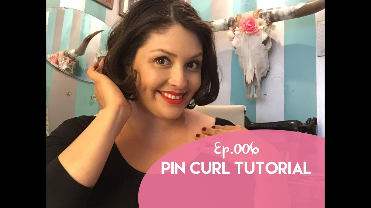 Ep 006 Pin Curl Tutorial For Short Hair Youtube