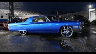 "Airbagged 1967 Cadillac Coupe DeVille Slammed on 26"" Asantis"