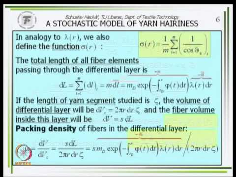 Mod-01 Lec-11 Modelling of Internal Yarn Geometry