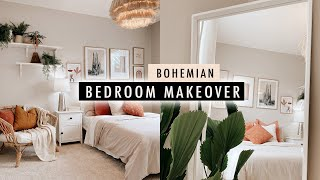 BOHEMIAN BEDROOM MAKEOVER (Apartment Makeover Part 3) | XO, MaCenna