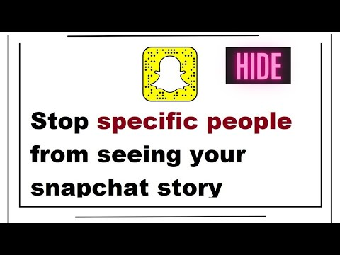 How to block someone from seeing your snapchat story without them knowing
