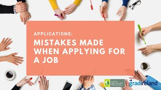 Applications - Mistakes mąde when applying for a job