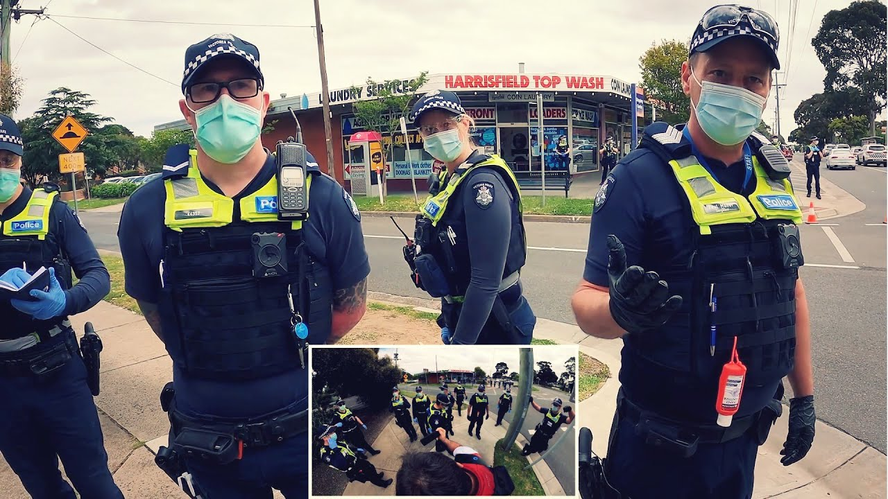 """Mask Police Tyrannize Aussies   """"What's Your Reason For Being Out Today?""""   Marty Focker Reports"""