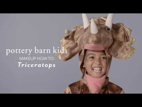 Easy Halloween Makeup Tutorial - Triceratops Costume for Pottery Barn Kids