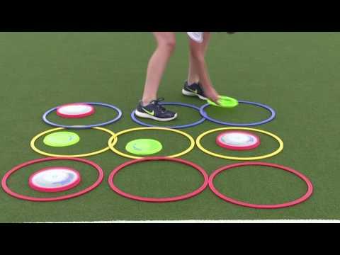 Primary PE Lesson Ideas - Ultimate Frisbee - Tic, Tac, Toe