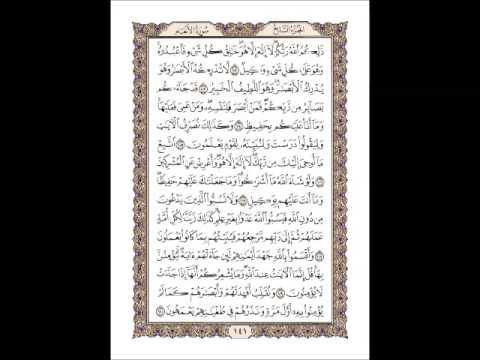القران الكريم سورة الأنعام صفحة 141
