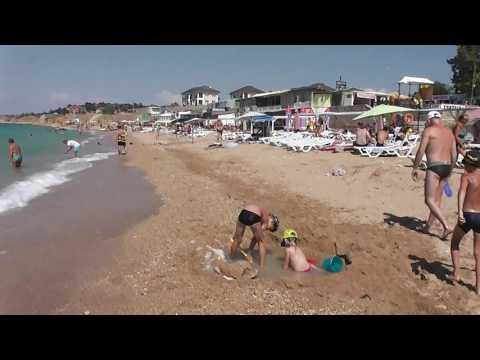 Пляж Учкуевка Севастополь 18 августа 2016