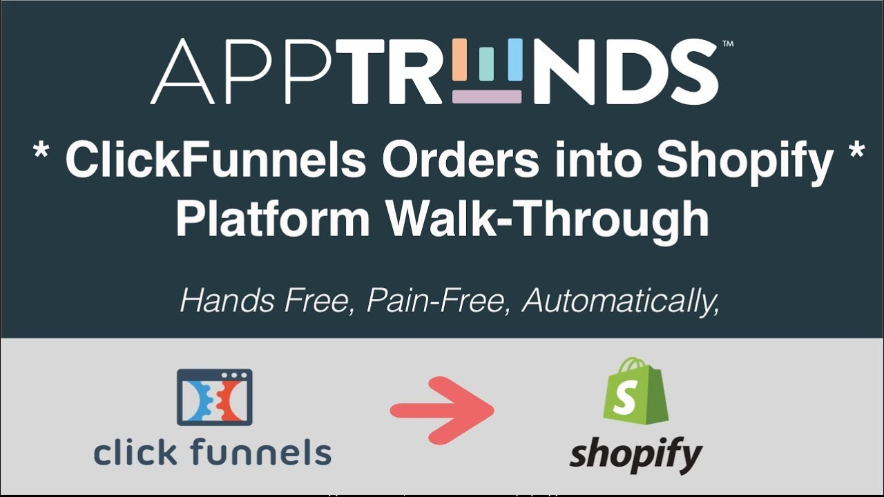 ClickFunnels Shopify Integration - Platform WalkThrough For ClickFunnels Orders into Shopify