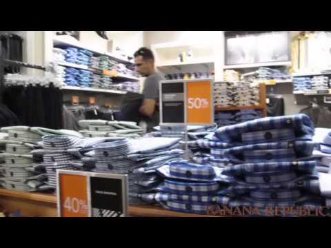 Banana Republic Preços - Vídeo 33 - Orlando Outubro 2013