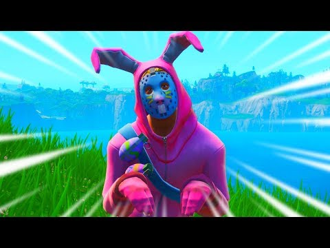 Doing The BUNNY HOP Emote All Game In Fortnite... (it was hell)