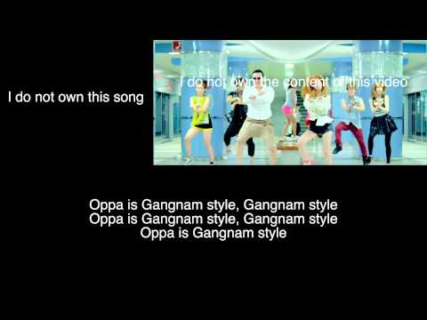 PSY: Gangnam Style (Lyric Video) (English Subtitles) [ENGLISH TRANSLATION]