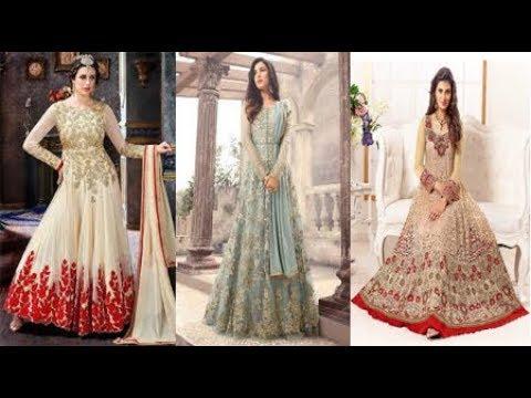 STYLISH Party Wear Dress Design Collections 2018 || Anarkali dress ...