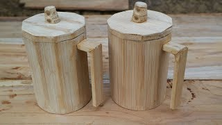How to make futuristic Bamboo cups.