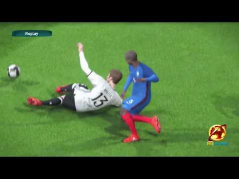 PES 2017 GAME PLAY FRANCE V GERMANY FULL MATCH