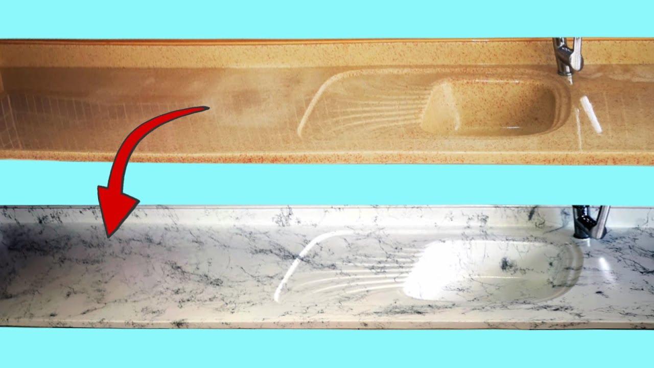 Mutfak Tezgahı Yenileme / Boyama | Kitchen Countertop Renovation / Painting