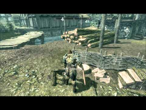 Skyrim: Wood cutting (Fire wood)