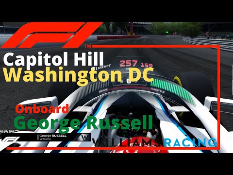 F1 George Russell Washington DC - Capitol Hill onboard 60FPS